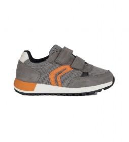 Zapatillas de piel Alben gris