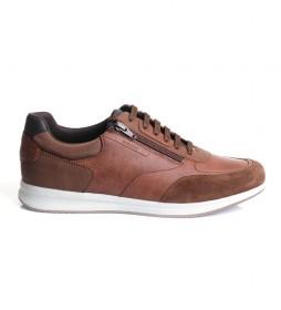 Zapatillas de piel Avery marrón