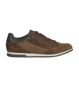 Zapatillas de piel U Renan marrón