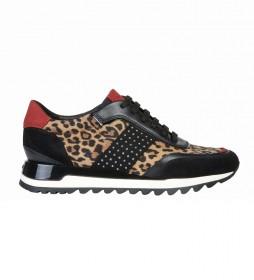 Zapatillas de piel Tabelya animal print
