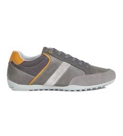 Zapatillas de piel U Garlan B gris, antracita