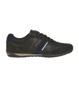 Zapatillas de piel Wells marrón oscuro