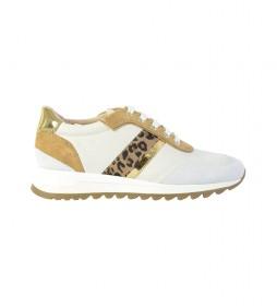 Zapatillas de piel Tableya blanco roto