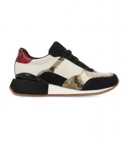 Zapatillas de piel Kirov blanco -altura cuña: 3.5cm-