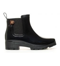 Botas de agua Chelsea negro -Altura tacón: 4.5cm-