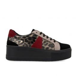 Zapatillas Vaxjo animal print, negro -altura plataforma: 5.5cm-