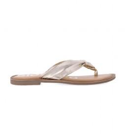 Sandalias de piel Minetto dorado