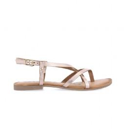 Sandalias de piel  Vina oro rosado