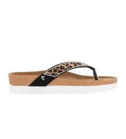 Chanclas Flager leopardo