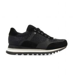 Zapatillas Daruvar negro -Altura cuña: 4cm-
