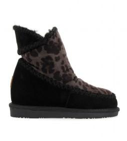 Botas de piel Eielson negro -Altura cuña 6.5cm -
