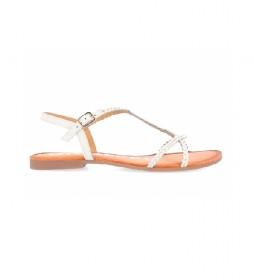 Sandalias de Piel Ossian blanco