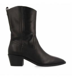 Botas cowboy de piel negro - Altura tacón 4.5cm -