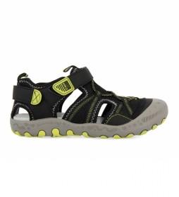 Sandalias Quepos negro, amarillo
