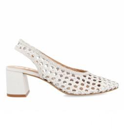 Zapatos de Salón de piel Canadice Destalonado Trenzada blanco -Altura tacón: 5cm-