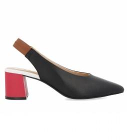 Zapatos de Salón de piel Amenia con Tacón en Contraste negro -Altura tacón: 5cm-
