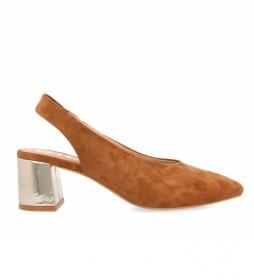 Zapatos de piel 59791 marrón - Altura tacón 5cm -