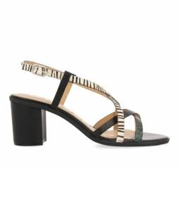 Sandalias de piel Stanton verde, negro -Altura tacón: 6,5cm-