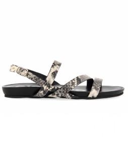 Sandalias de piel 59778-P negro, animalprint