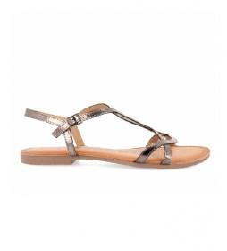 Sandalias de piel Navassa plomo