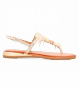 Sandalias de piel 58558-P beige