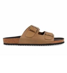 Sandalias de cuero La Siesta, marrón