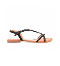Sandalias de piel Ossian negro