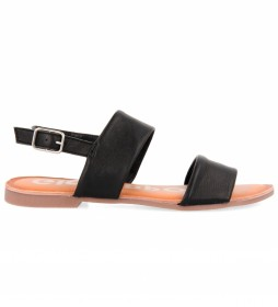 Sandalias de piel Mesic negro
