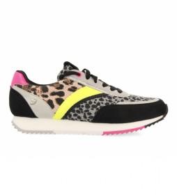 Sneakers Elkhart negro, animal print