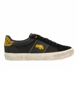 Zapatillas de piel 62727 negro