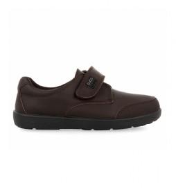 Zapatos de piel 46876 marrón
