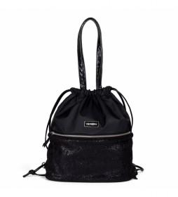Bolso mochila Saxman negro -36x38x15.5cm-