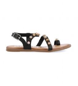 Sandalias de piel Halcott negro