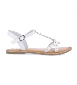 Sandalias de piel Habay blanco