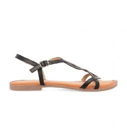 Sandalias de piel Navassa negro