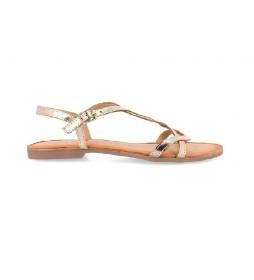 Sandalias de piel Navassa oro
