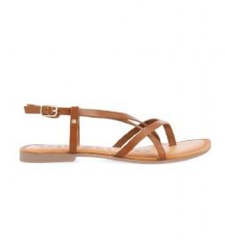Sandalias de piel Vina marrón