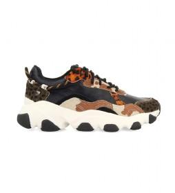 Zapatillas de piel Aleksin negro