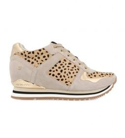 Zapatillas de piel Ansty leopardo -altura plataforma: 6cm-