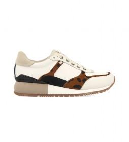 Zapatillas de piel Lieja blanco