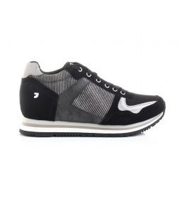 Zapatillas Nassu negro -Altura cuña interna + suela: 5.8cm-