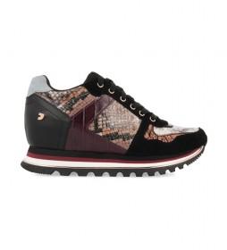 Zapatillas Nazran burdeos -Altura cuña+suela: 5,8cm-