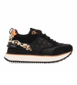 Zapatillas Skien negro -Altura cuña: 5cm-