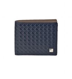 Americano de piel trenzado GL-3714 azul -11x9x1,cm-
