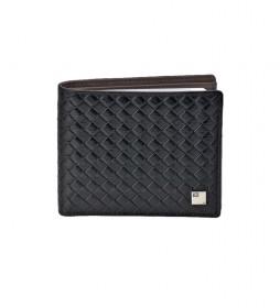 Americano de piel trenzado GL-3714 negro -11x9x1,cm-