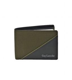 Americano de piel GL-3724  con monedero  verde -11x8x2cm-