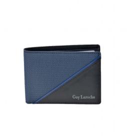 Americano de piel GL-3725 azul -11,5x8x1,5cm-