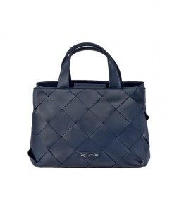 Bolso carryall de piel GL-12180 azul -37x26x18cm-