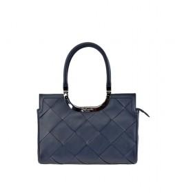 Bolso carryall de piel GL-12371G azul -33x24x9cm-