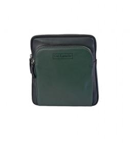 Bandolera de piel GL-54 verde -21x26x5cm-
